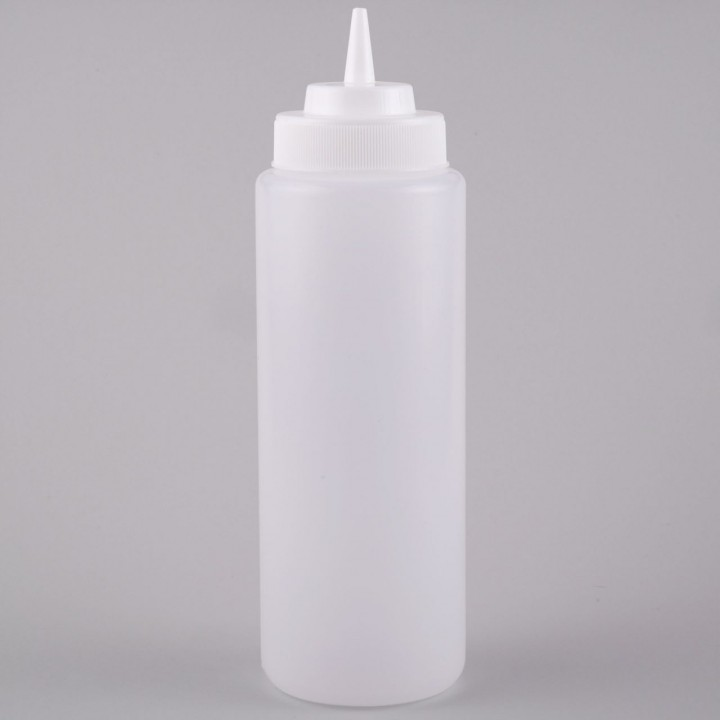 KH Plastic Squeeze Bottle Clear Transparent White