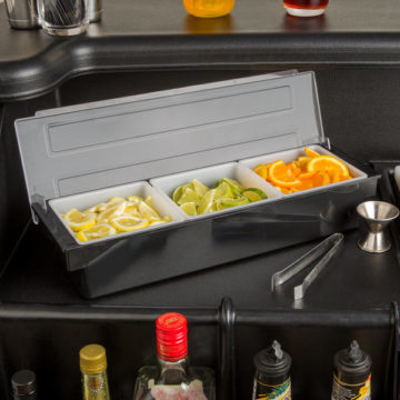 Bar Condiment Dispenser - Bar Caddy - 3 Compartment
