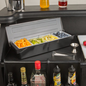 Bar Condiment Dispenser - Bar Caddy - 4 Compartment