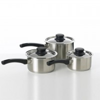 3 Piece Stainless Steel Saucepan Set