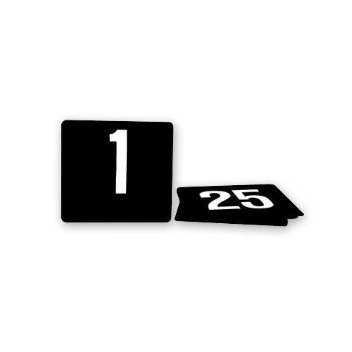 KH Table Numbers Plastic White On Black