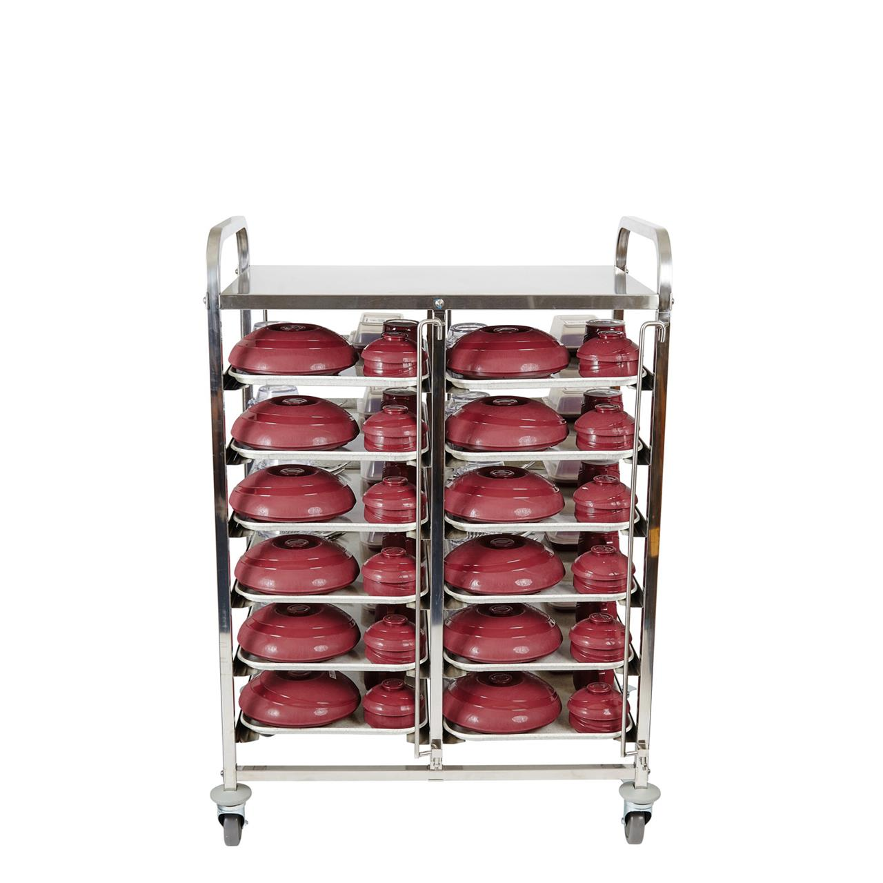 Meal Delivery Trolley Double Tier