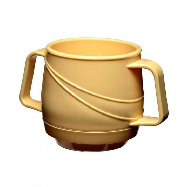 KH Moderne Insulated Double Handle Mug Yellow