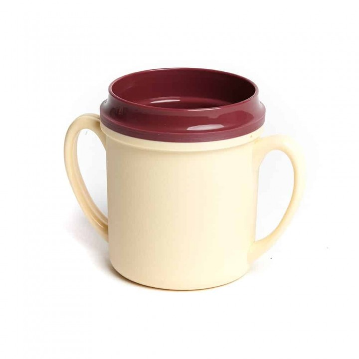 KH Traditional Insulated Mug Double Handle Yellow