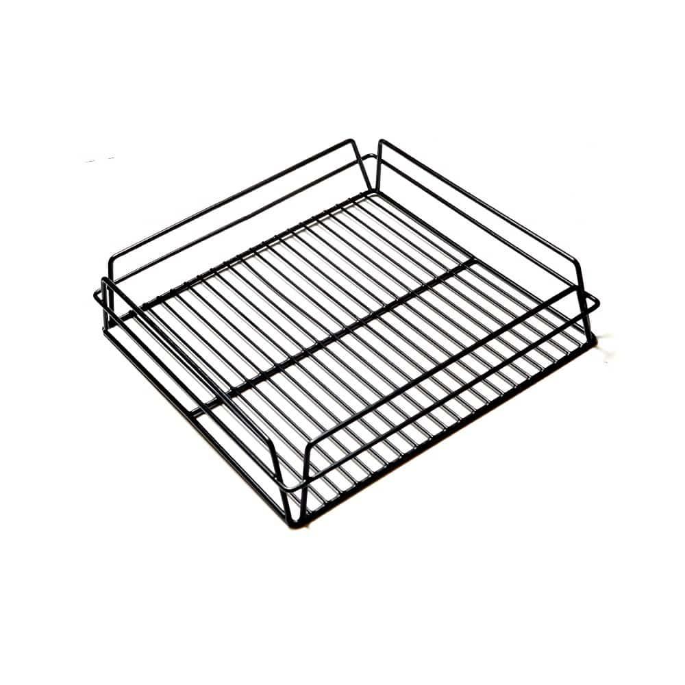 Glass Baskets Rack Black
