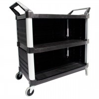 3 Tier Large Utility Service Cart Enclosed