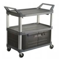 TRUST 3 Tier Utility Service Cart Lockable Doors