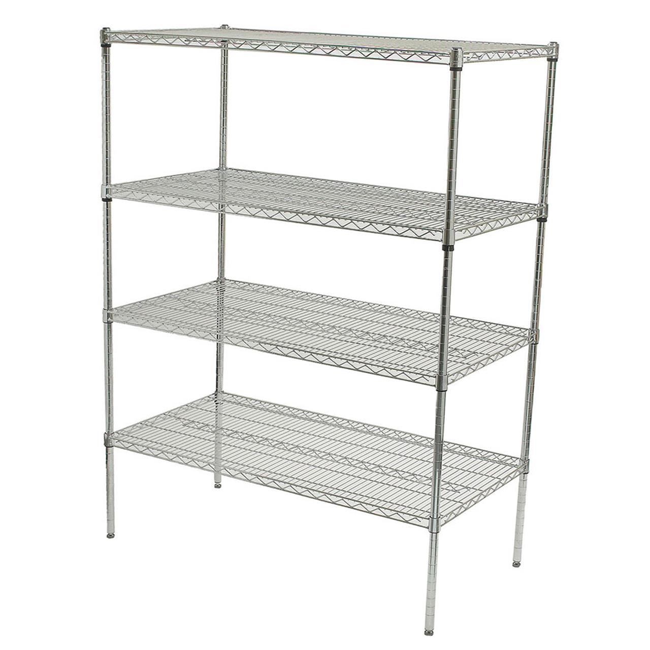 Adjustable Chrome Wire Shelving (Instafit - Adjustable Wire ...