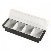Bar Condiment Dispenser 4 Compartment