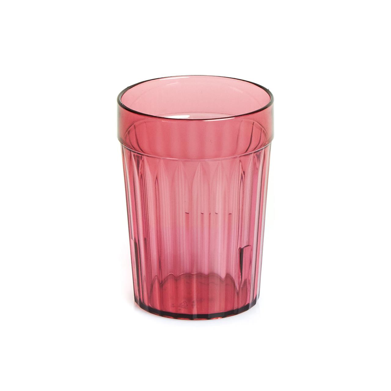 Healthcare Burgandy Re-Usable Plastic Tumblers #16