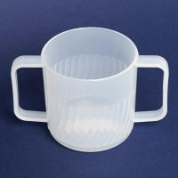 Clear Double Handle Mug