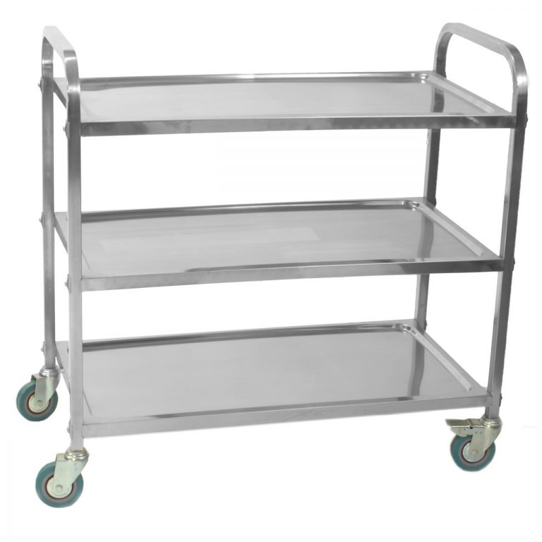 Stainless Steel 3 Tier Trolley