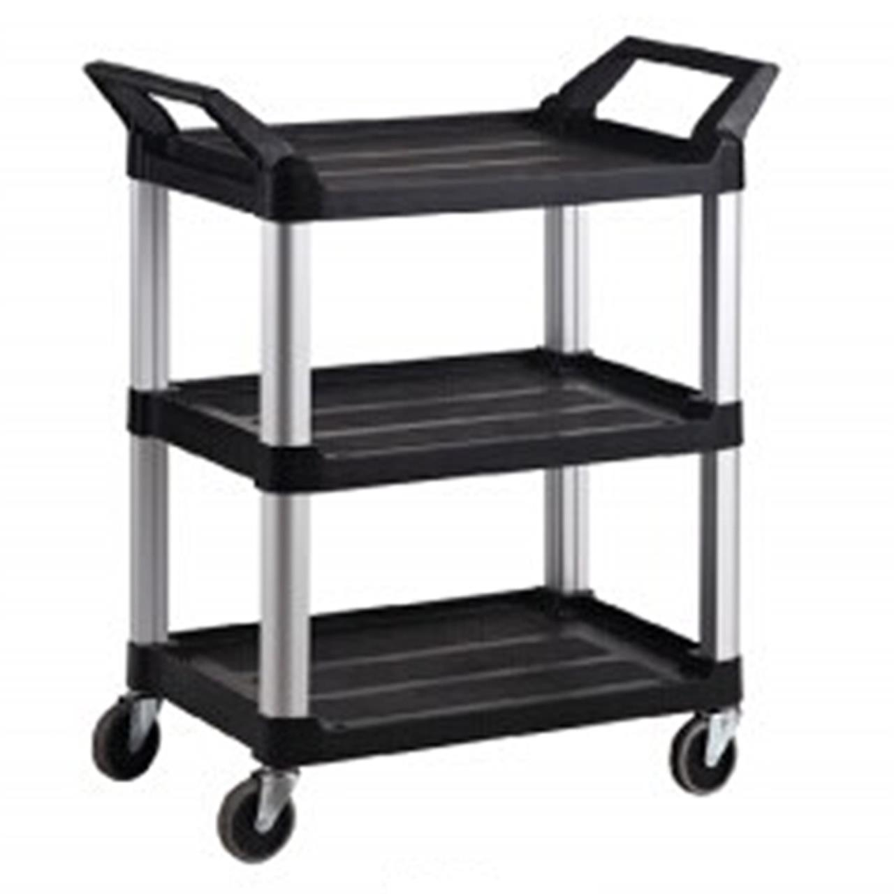 trust-3-tier-small-utility-service-cart-black
