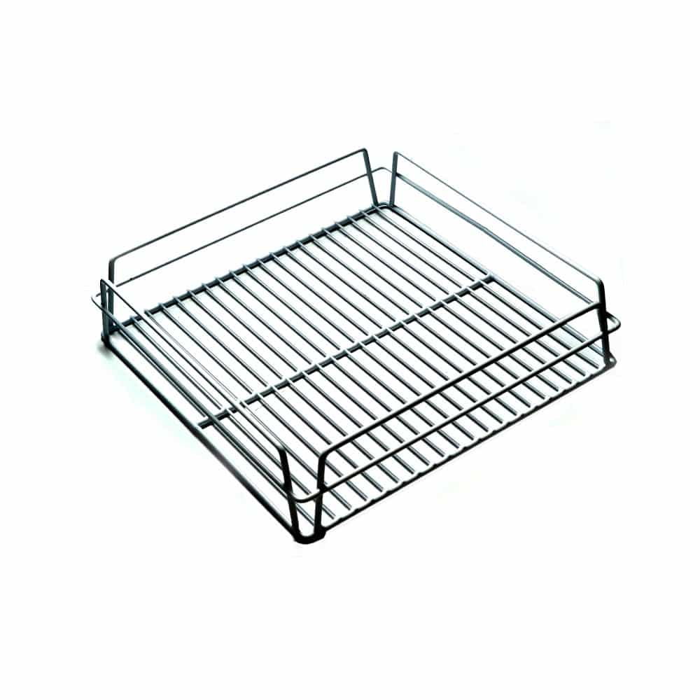 KH Glass Baskets Rack White