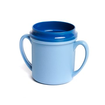 KH Traditional Insulated Mug Double Handle Blue