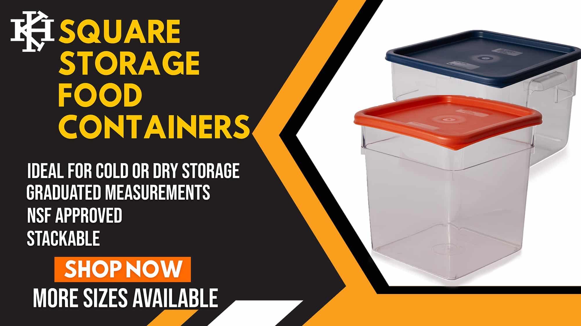 Square Storage Food Container