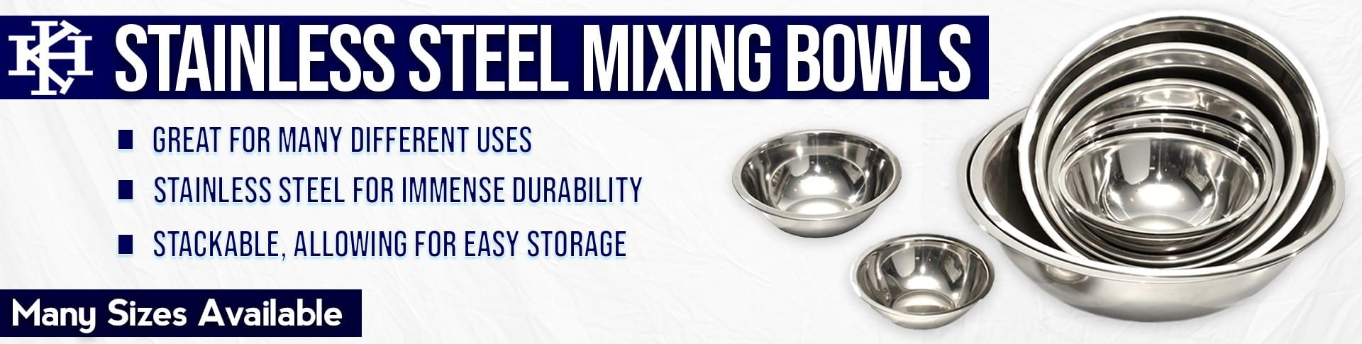 KH Stainless Steel Mixing Bowls