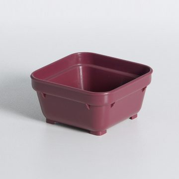 KH Square Bowl Burgundy