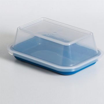 KH Tray Rectangular Blue With Lid To Suit