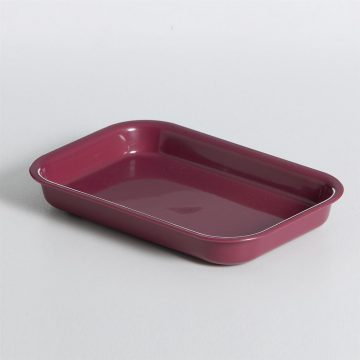 KH Tray Rectangular Burgundy