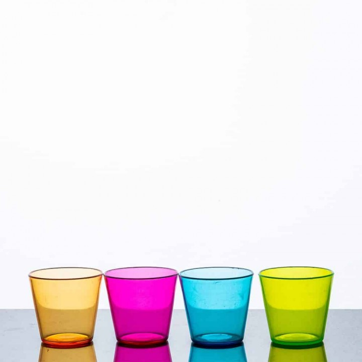 Shot Glasses Coloured PGC Polycarbonate 2
