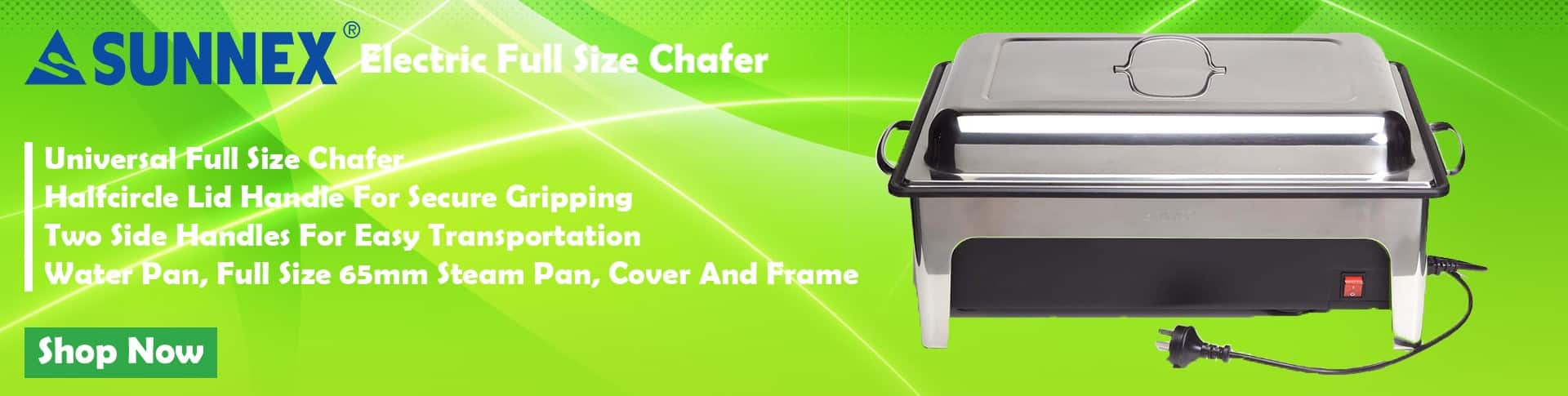 Sunnex Electric Full Size Chafer'