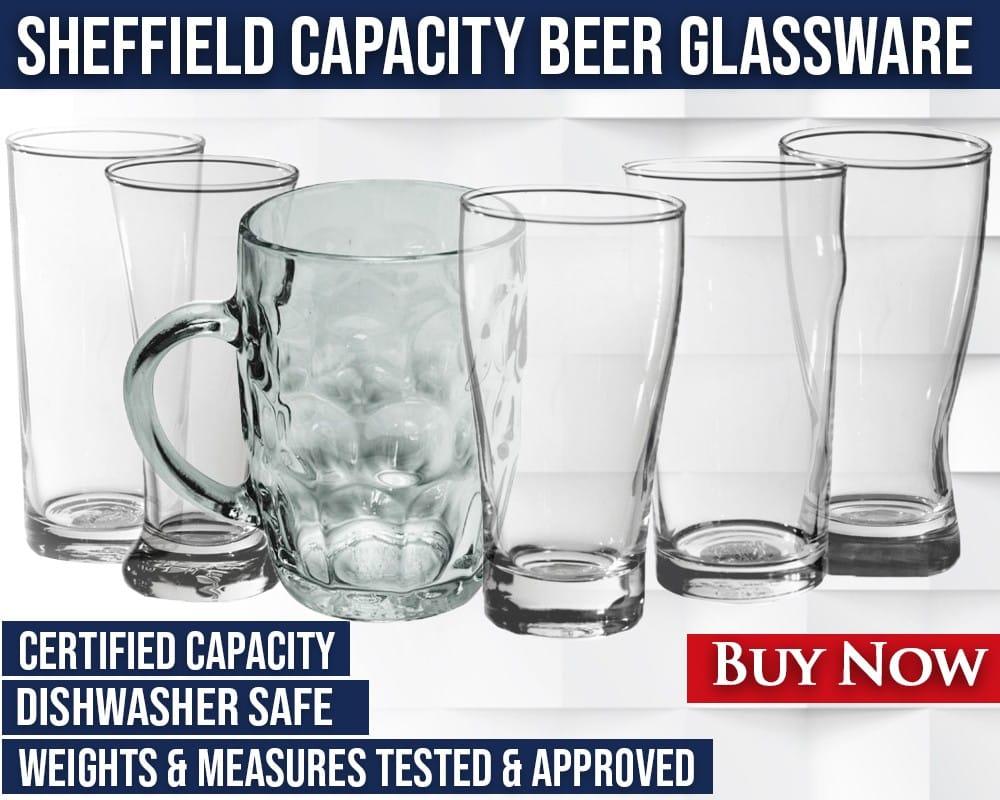 Sheffield Capacity Beer Glassware