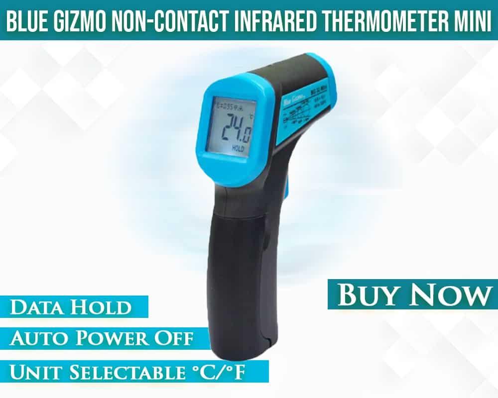 Blue Gizmo Mini Thermometer
