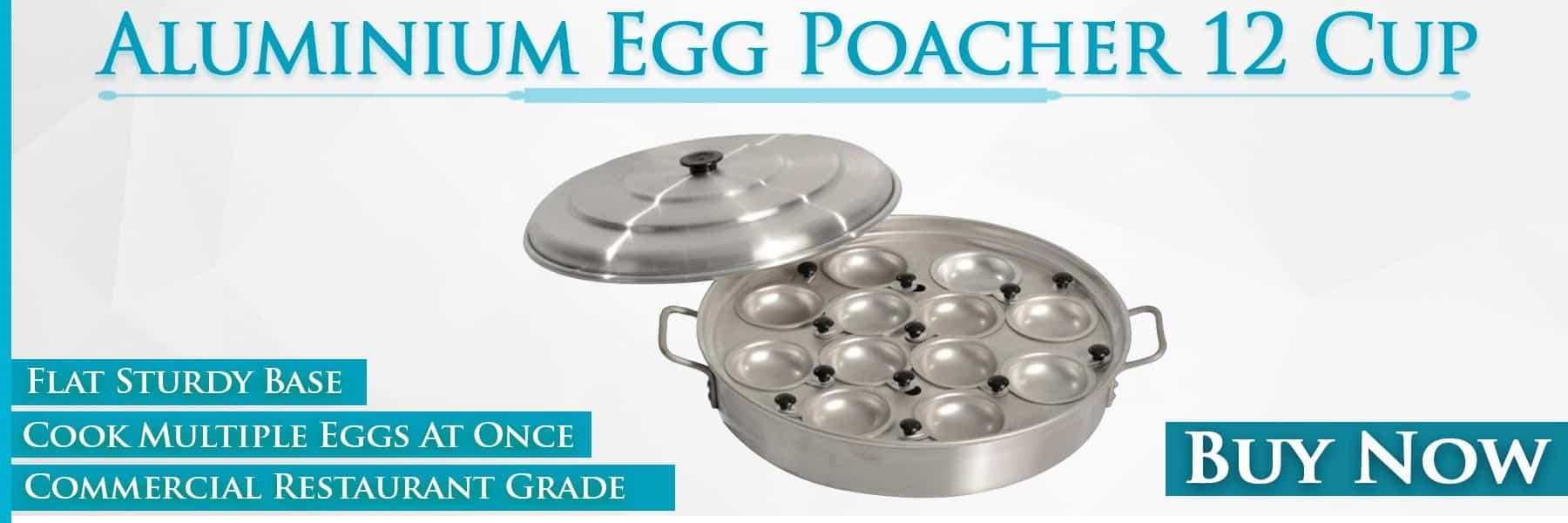 KH Aluminium Egg Poacher 12 Cup