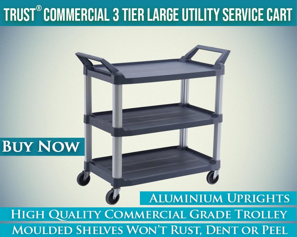 TRUST Utility Trolley 3 Tier