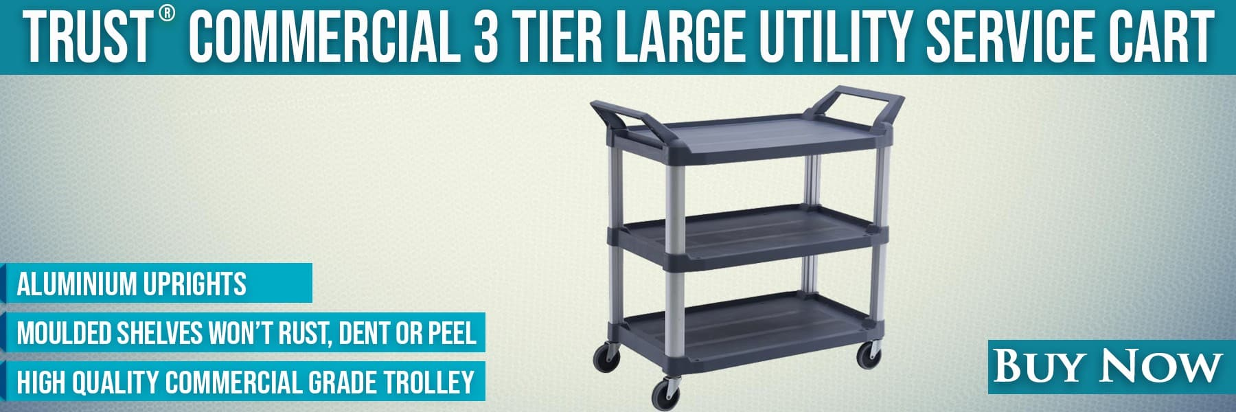 TRUST 3 Tier Utility Cart Large