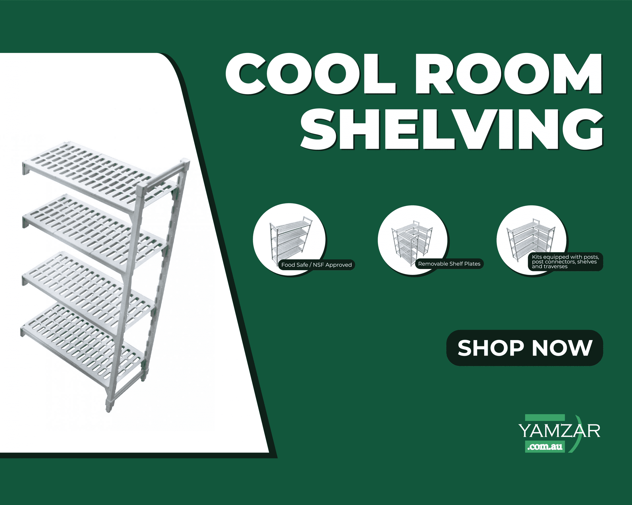 Cool Room Plastic Kitchen Shelving