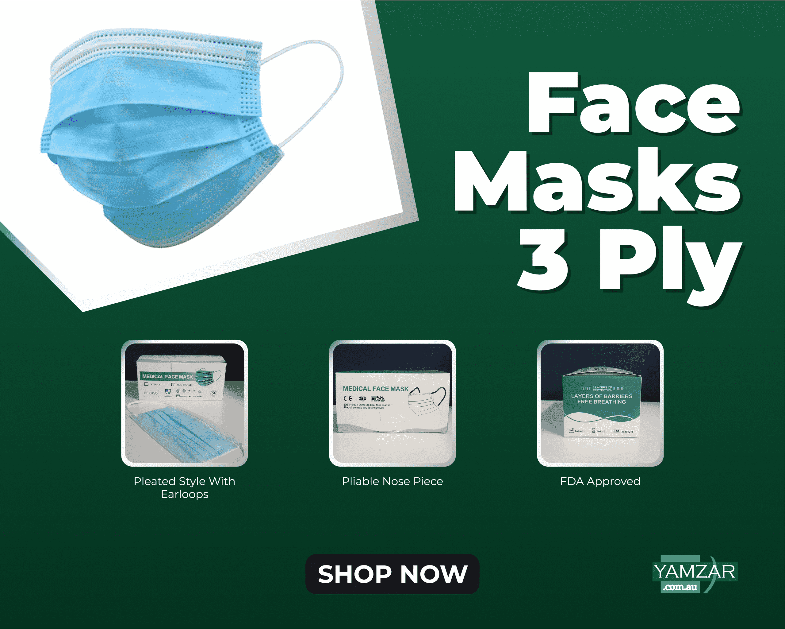 3 Ply Face Mask Disposable