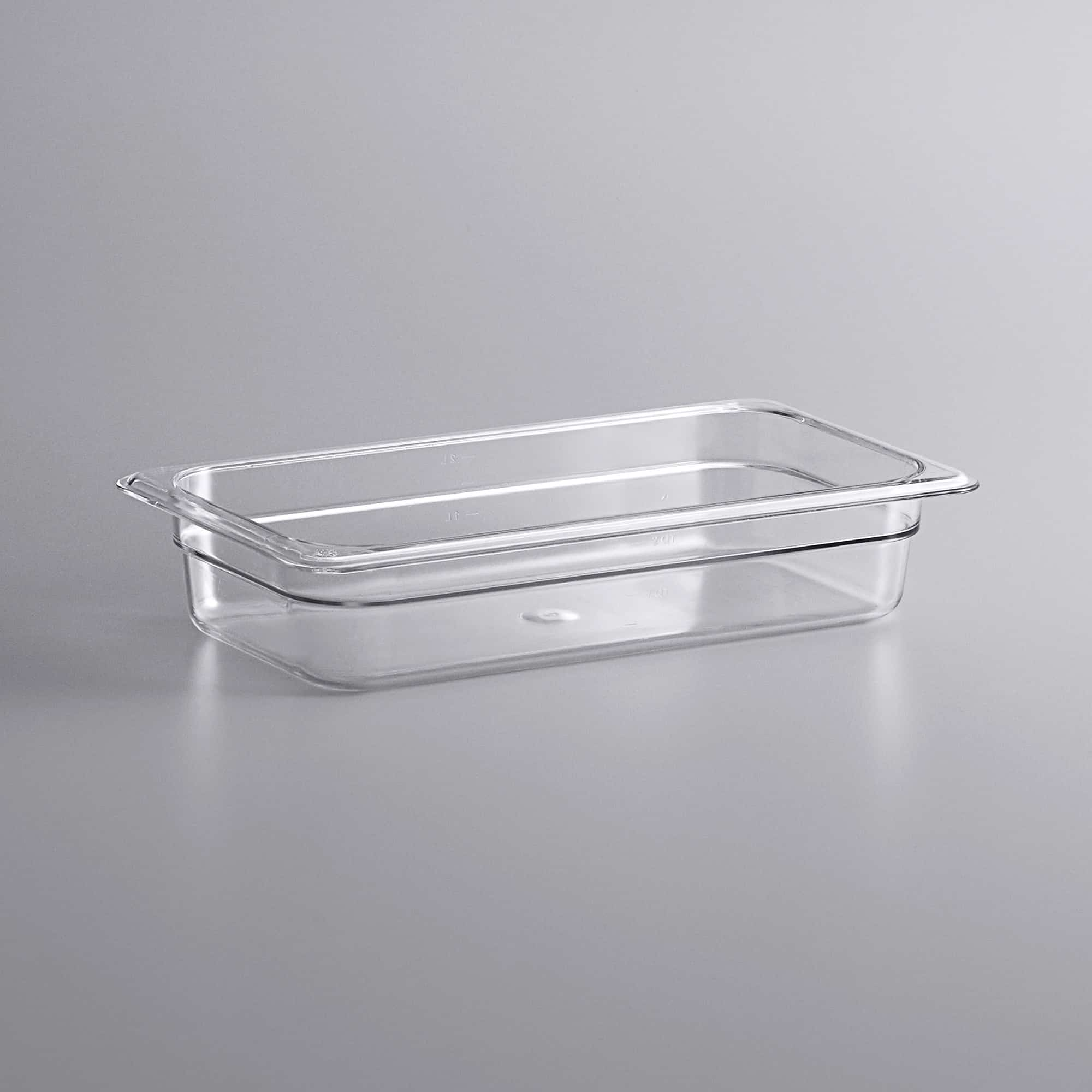 Clear 1/3 Size Food Pan