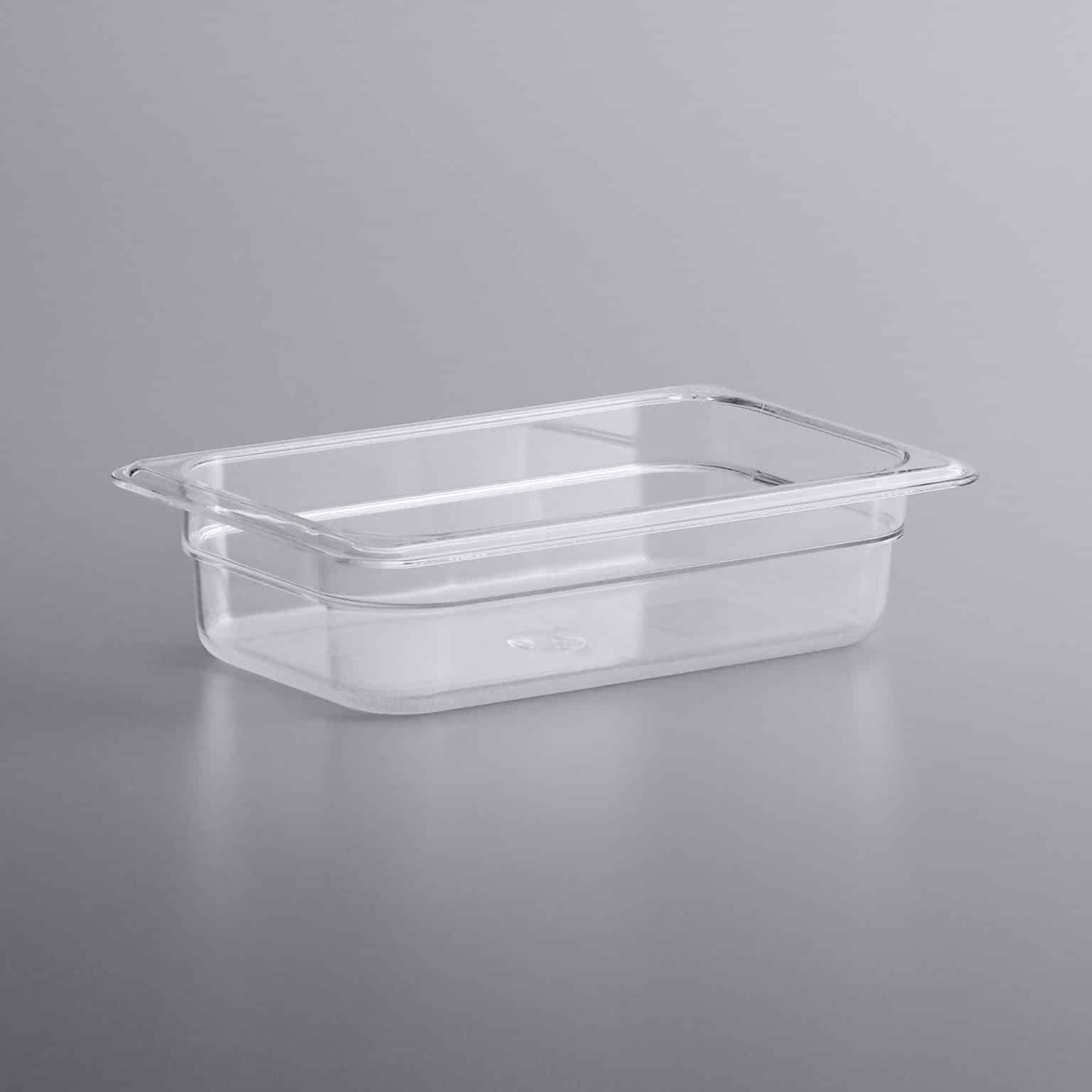 KH 1/4 Size Clear Food Pan Polycarbonate PC