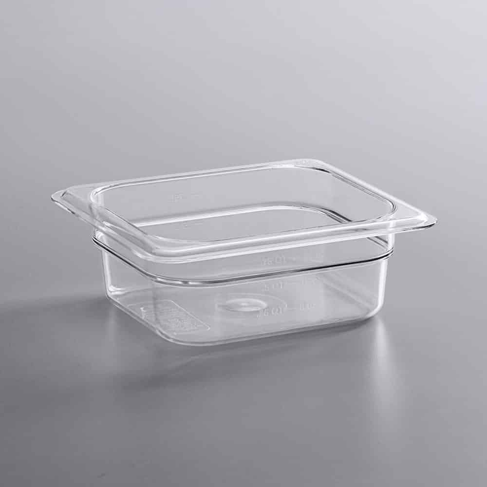 KH 1/6 Size Clear Food Pan Polycarbonate PC