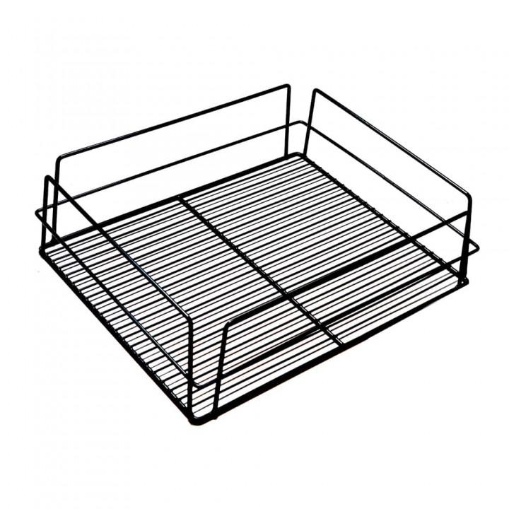 17176 - KH Glass Baskets Rack Black 425 X 350 X 125 (17 X 14 X 5)