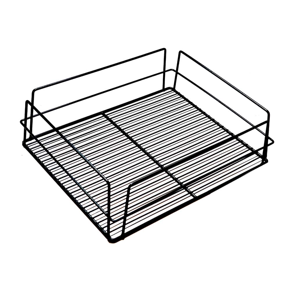 17176 – KH Glass Baskets Rack Black 425 X 350 X 125 (17 X 14 X 5)