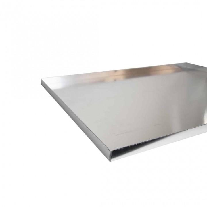 Bakers Tray 4 Sided Aluminium (2)